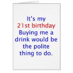 21 me compran una bebida felicitación