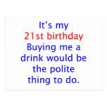 21 me compran una bebida postales