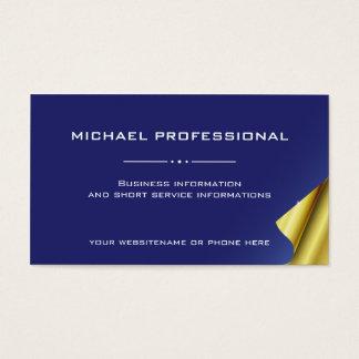 21 Modern Professional Business Card blue golden
