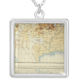 21 Natives of Scandinavian nations 1890 Square Pendant Necklace