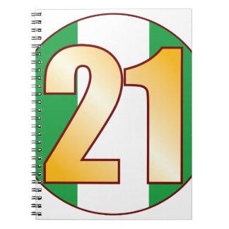 21 NIGERIA Gold Notebook
