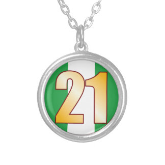 21 NIGERIA Gold Silver Plated Necklace