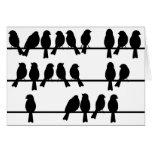 21 pájaros en un alambre felicitaciones