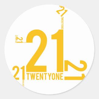 21 PEGATINA REDONDA