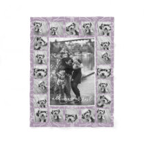 21 Photo Collage and Tile Pattern - CAN Edit COLOR Fleece Blanket