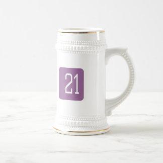 #21 Purple Square Beer Stein