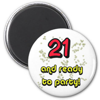 21 ready to party_edited-1 fridge magnet