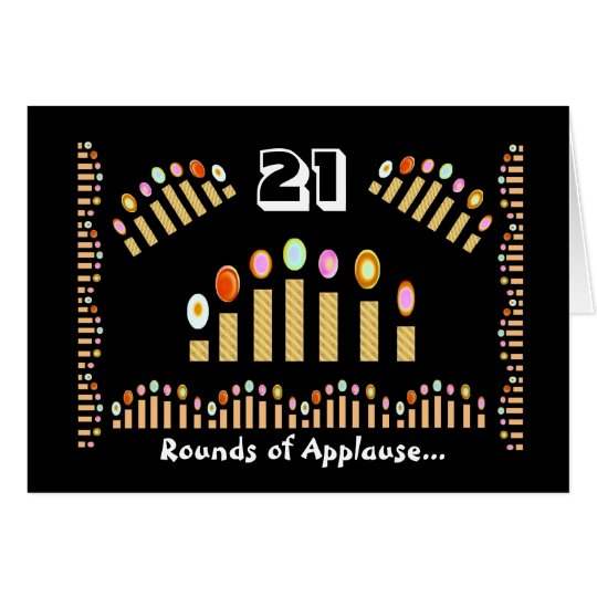 21 Rounds of Applause Happy Birthday! Gold Candles Card