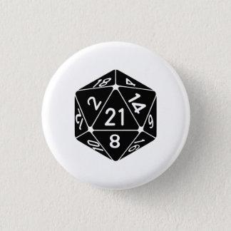 21 Sided 21st Birthday D20 Fantasy Gamer Die Button