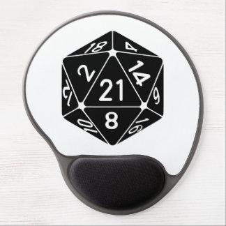 21 Sided 21st Birthday D20 Fantasy Gamer Die Gel Mouse Pad