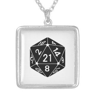21 Sided 21st Birthday D20 Fantasy Gamer Die Jewelry