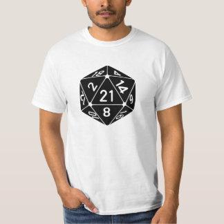 21 Sided 21st Birthday D20 Fantasy Gamer Die T-Shirt