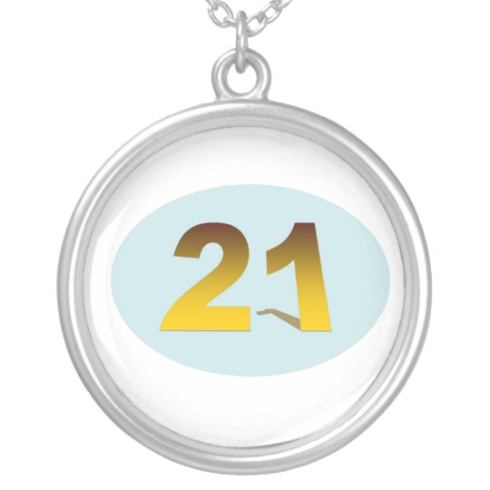 21 SILVER PLATED NECKLACE