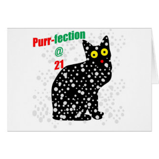 21 Snow Cat Purr-fection Greeting Card