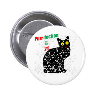 21 Snow Cat Purr-fection Pinback Button
