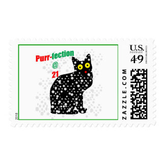 21 Snow Cat Purr-fection Stamp