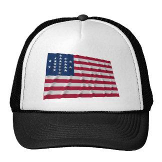 21-star flag, Cut Diamond pattern Trucker Hat