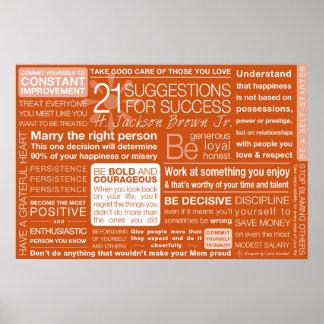 21 sugerencias para el éxito - arcilla póster