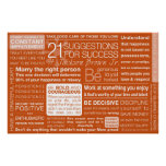 21 Suggestions for Success - Clay Poster