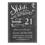 21 Surprise birthday invitation Chalkboard Rustic