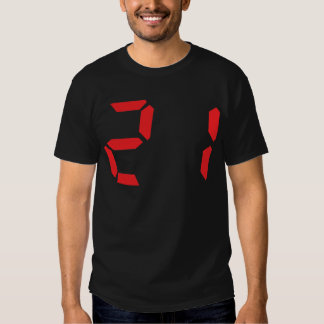 21 veintiuno números digitales del despertador del camisas