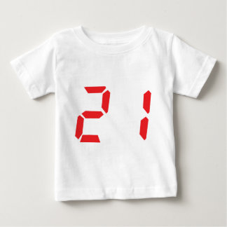 21 veintiuno números digitales del despertador del polera