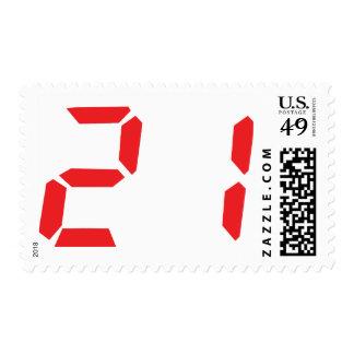 21 veintiuno números digitales del despertador del