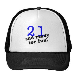 21 y aliste para el azul de la diversión gorro