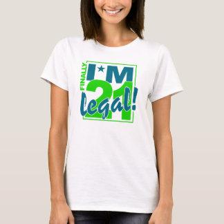 21 y camisa LEGAL - elija el estilo y el color