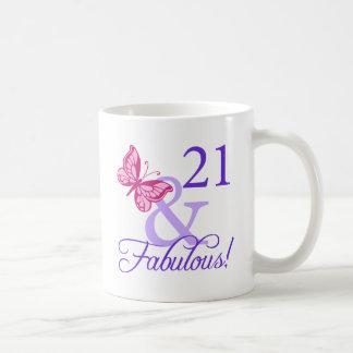 21 y cumpleaños fabuloso taza
