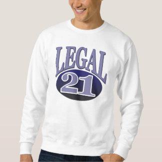 21 y cumpleaños legal sudadera