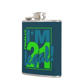 21 y frasco de encargo LEGAL Petaca