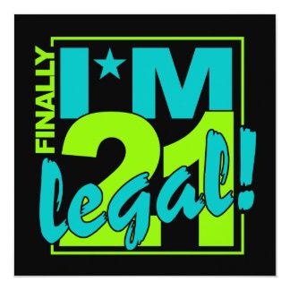 21 y invitación LEGAL, personalizar
