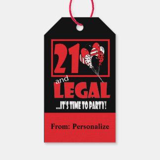 21 y legal etiquetas para regalos