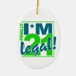 21 y ornamento LEGAL, personalizar Ornaments Para Arbol De Navidad