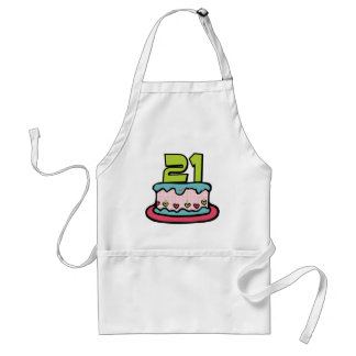 21 Year Old Birthday Cake Adult Apron