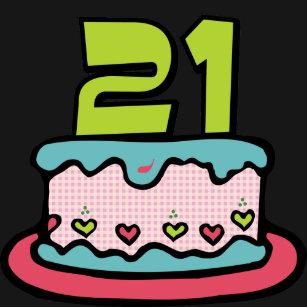 21 Year Old Birthday Cake T Shirt