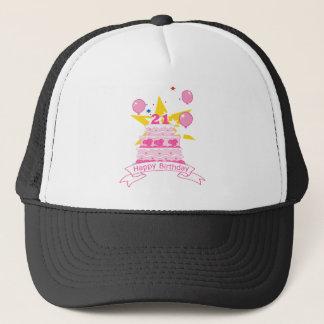 21 Year Old Birthday Cake Trucker Hat
