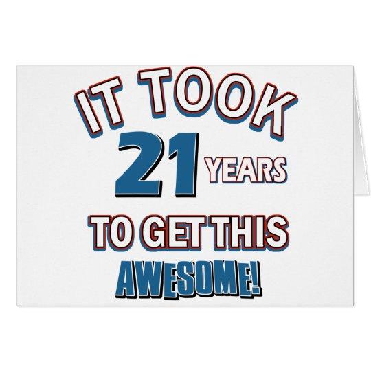 21 year old birthday designs card
