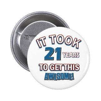 21 year old birthday designs pin
