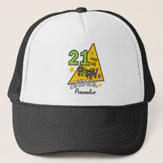 21 Year Old Party Animal | 21st Birthday DIY Name Trucker Hat