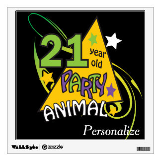 21 Year Old Party Animal | 21st Birthday Wall Sticker