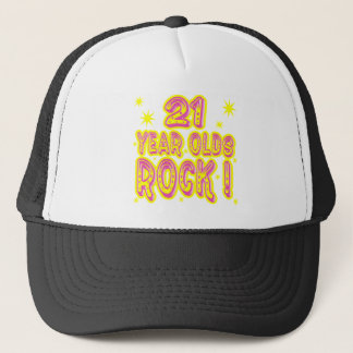 21 Year Olds Rock! (Pink) Hat