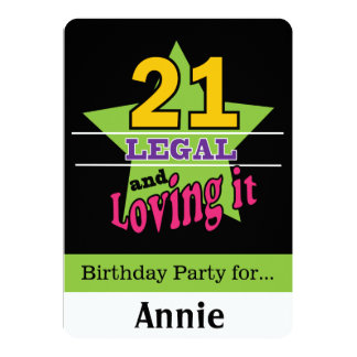 21 Years and Loving It Card