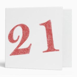 21 years anniversary 3 ring binder