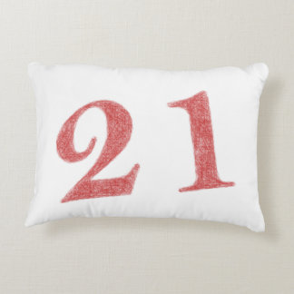 21 years anniversary accent pillow