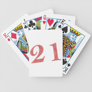 21 years anniversary bicycle playing cards