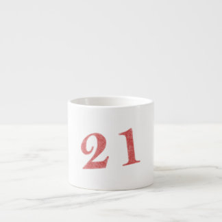 21 years anniversary espresso cup