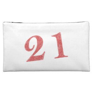 21 years anniversary makeup bag