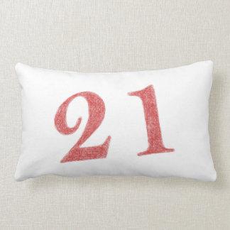 21 years anniversary throw pillow